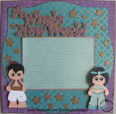 www.facebook.com/LissaLeigheDesigns Scrappydew.com paper piecings scrapbook layout silhouette cameo