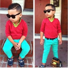 Baby swag....look at the hair tho..luv it....cute