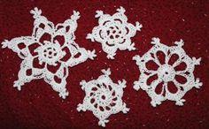 Four Easy Crochet Snowflakes