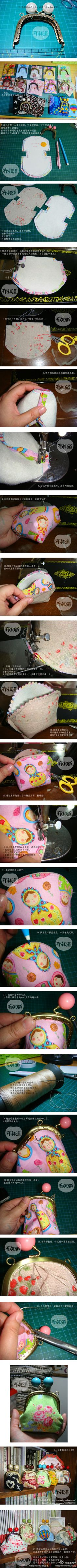 Coin Purse Tutorial - now I just need to figure out the dimensions Sewing Hacks, Sewing Tutorials, Sewing Crafts, Sewing Projects, Diy Coin Purse, Coin Purses, Frame Purse, Purse Tutorial, Diy Tutorial