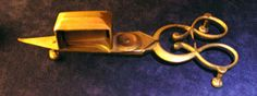 An 18th Century Wick Trimmer  A candle wick trimmer was a scissors-like instrument for cutting and arranging candlewicks. Candlelight would ...