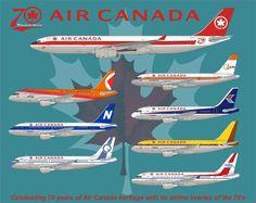 Air Canada - Airbus A330-300 - 70th Anniversary
