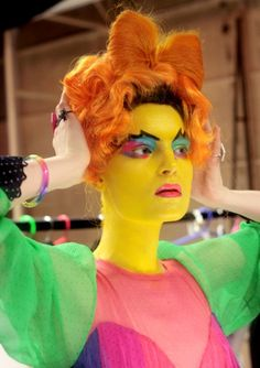 Eleanor visits the Meadham Kirchhoff studio once again for a look at the inspiration and process behind their fall 2012 show. Captions by Edward Meadham. Meadham Kirchhoff, Monster Face, Runway Makeup, Quirky Fashion, Makeup Designs, Saturated Color, Color Of Life, Madame, Looking Gorgeous