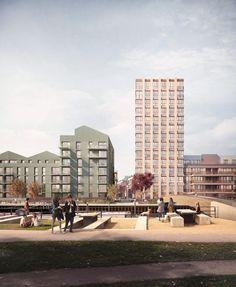 Architecture Visualization, Architecture Drawings, Landscape Architecture, Architecture Layout, London Architecture, Architecture Student, Duggan Morris, Concrete Wall Panels, Valley Park
