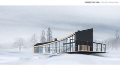 NEAR THE FOREST by SA lab. Private house in St-Petersburg, Russia salab.org #SAlab #parametric #architecture #private #house #building #modern #villa #panoramic #view #concept #render #grasshopper #visualization #winterrender