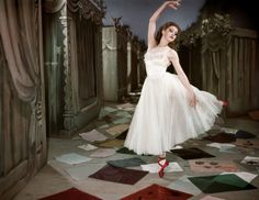 Moira Shearer in The Red Shoes.  I can't help but to think my desire to have SID in a white dress is inspired a bit by The Red Shoes.