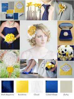 Outdoor Wedding - Our colors are cobalt blue and yellow, with accents of grey. . . .  Found on Weddingbee.com Share your inspiration today!