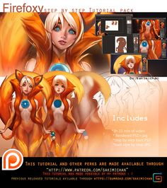 Firefoxy Tutorial pack. promo. by sakimichan.deviantart.com on @DeviantArt