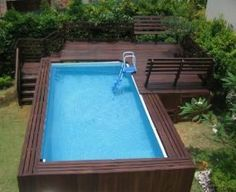 Deck ideas for intex above ground pools decking for for Above ground pool decks for sale