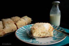 Schneller Buttermilchkuchen mit Kokos / Easy cake recipe: delicious buttermilk coconut sheet cake