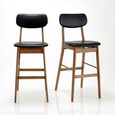 Le lot de 2 chaises design vintage Watford. Lignes subtiles et allure graphique pour ces chaises de bar Watford, elles trouveront aussi bien leur place dans la cuisine, que dans le bureau.Caractéristiques de la chaise de bar Watford :Structure en hévéa, finition noyer, vernis nitrocellulosique.Assise et dossier rembourrés et garnis mousse polyéther revêtus polyuréthane aspect cuir coloris noir.Retrouvez d'autres chaises design ainsi que la collection Watford sur laredoute.frDimensions de ...