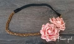 Hippy style hairband ampyx decorated with 2 от FlowerGirlStories