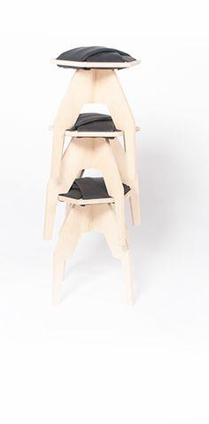 wyPLOTEK wooden stool Project: Marmolada Design