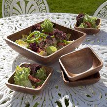 Square bowls Fair Trade Clothing, Acacia, Guacamole, Bowls, Promotion, Universe, Woodworking, Salad, Marketing