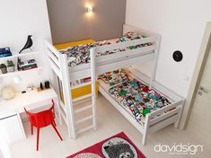 Studio de design interior in Oradea, Romania. L Shaped Bunk Beds, Interior Exterior, Interior Design, Living Room Interior, Girls Bedroom, Modern, Blog, Furniture, Home Decor