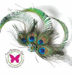 Silver+Peacock+Headpiece