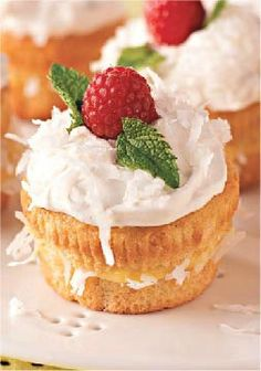 Coconut Cream Cupcakes – Like coconut cream pie but don't like to share? You can enjoy the same flavors in this dessert recipe, filled with a luscious mixture of coconut and pudding.
