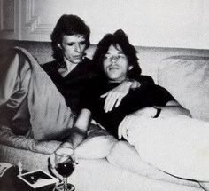 Bowie and Jagger. Too wonderful.