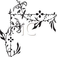 iCLIPART - Decorative Floral Corner Element Illustration