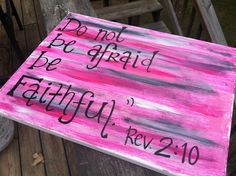 Pink Black and White Handmade Bible Verse Canvas Art. $25.00, via Etsy.