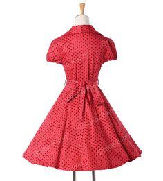 2015 mulheres verão estilo do vestido de algodão bolinhas 40 s 60 s Retro Vintage 50 s Rockabilly vestido balanço Pinup vestidos vestido de festa 6089 em Vestidos de Roupas e Acessórios no AliExpress.com | Alibaba Group