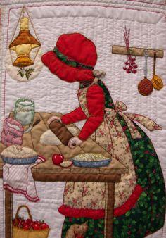 My Sunbonnet girls. Quilt Block Patterns, Applique Patterns, Applique Quilts, Quilt Blocks, Quilt Baby, Quilting Projects, Quilting Designs, Sue Sunbonnet, Doll Quilt