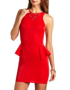 jewel peplum dress