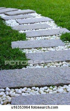 Colección De Fotos   Caminar, Piedras, Jardín. Fotosearch   Buscar Fotos E  Imágenes · Stepping Stones For GardenGarden ...