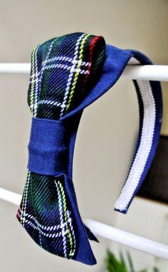 headbands tartan