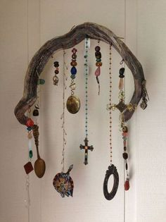 wind chime or wall hanging...driftwood & found objects
