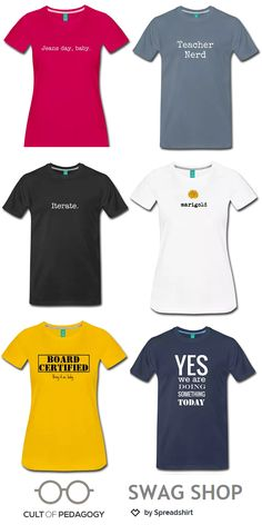 End-of-School-Year Gift giving  Cult of Pedagogy T-shirts c88ac7a56