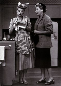 Lucille Ball and Vivian Vance in I Love Lucy (1951-57)