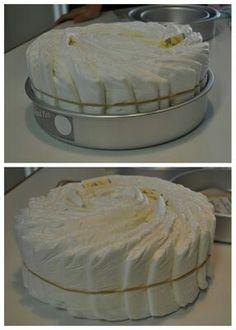 Forma fácil de decorar pañales como pastel para bby shower