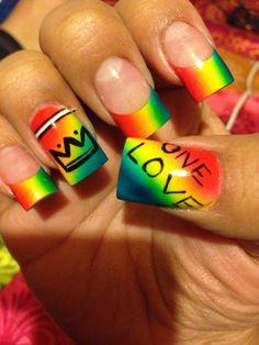 My Reggae Bob Marley Nails.. Airbrushed Coloring.