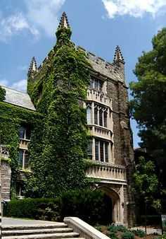 Neo-Gothic Tower at Mc Master University, Hamilton, Ontario, Canada