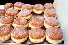Czech Desserts, Sweet Desserts, Sweet Recipes, Slovak Recipes, Czech Recipes, Delicious Donuts, Yummy Food, Sweet Pastries, Desert Recipes
