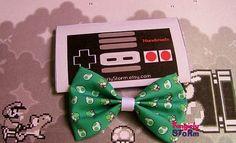 Nintendo Super Mario- Yoshi and yoshi egg Hair bow/ Bow tie  Unique handmade kawaii  Geeky Gamer bow on Etsy, $7.67 CAD