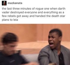 IT WAS STRESSFUL<-- IT WAS! It was so stressful even though I've seen A New Hope like a thousand times and obviously they plans got to the rebellion but that was so stinking stressful!!!!!!!