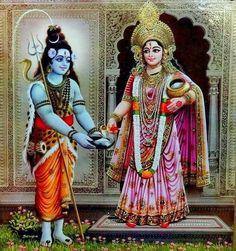 Annapurna offers Alms to Shiva Shiva Parvati Images, Durga Images, Mahakal Shiva, Lakshmi Images, Krishna Krishna, Hanuman, Om Namah Shivaya, Durga Maa Pictures, Hindu Deities