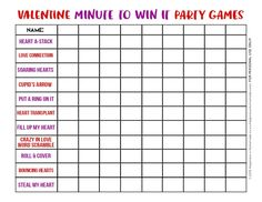 These Minute to Win It Valentine Games will be the hit of your Valentine's Day party! Valentine Minute to Win It Games for kids and adults - everyone will want to play! day party for adults games Valentine Minute to Win It Games - Happiness is Homemade Valentines Games, Anti Valentines Day, Valentines Day Activities, Valentines For Kids, Valentine Party, Valentine Ideas, Valentine Stuff, Valentine Craft, Valentine Nails