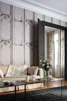 Nonwoven #wallpaper LA BELLE ET LA BÊTE Pleats Collection by Elitis