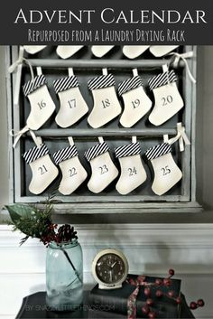 Our New Advent Calendar...an upcycled drying rack | snazzy little things
