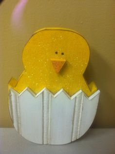 Little Chick in Egg Wood Craft
