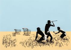 Banksy (British, b. 1974), Trolleys, 2007