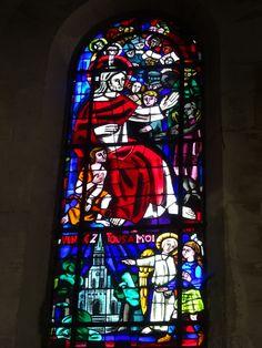 Vitrail, basilique Saint-Denys, Argenteuil, Val-d'Oise