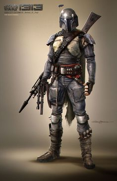 """Boba Fett Costume"" // Star Wars 1313, Game Concept Art (game cancelled after Disney's purchase of SW Property) Artist: Gustavo H. Mendonca"