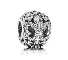 Want it, i think...  Pandora Fleur de Lis Openwork Charm | www.goldcasters.com