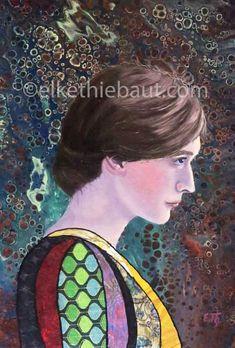 Original Portrait Painting by Elke Thiebaut Original Paintings, Original Art, Alice, Portraits, Art Oil, Artwork Online, Collages, Buy Art, Saatchi Art