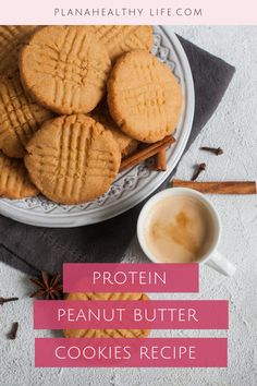 Protein Peanut Butter Protein Cookie Recipe (gluten-free, only 4 ingredients!) — PLAN A HEALTHY LIFE - #chocolateproteinpowder - Protein Peanut Butter Protein Cookie Recipe (gluten-free, only 4 ingredients!) — PLAN A HEALTHY LIFE...