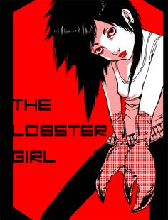 """The cover of my original comic """"The Lobster Girl"""". #illustration#"""